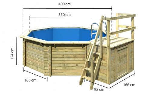 Veľký luxusný nadzemný bazén