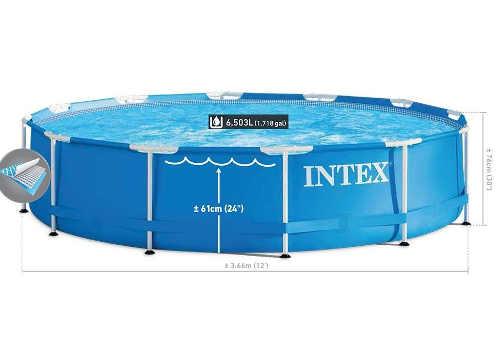 Bazén do záhrady s kovovou konštrukciou