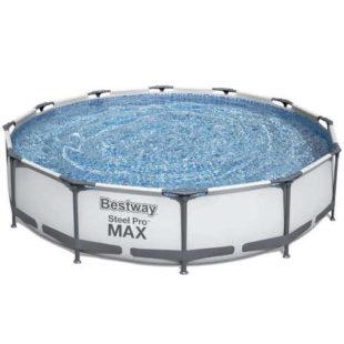 Bazén s kovovou konštrukciou a filtráciou