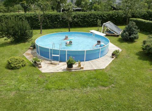 Bazén s príslušenstvom okrúhly