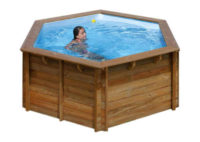 GRE bazén s drevenou konštrukciou 4,0 x 1,19 m