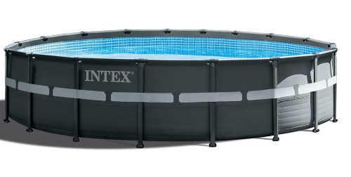 Intex kruhový päťmetrový nadzemný kovový bazén