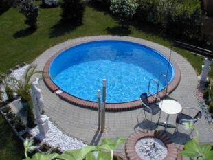Kruhový bazén INET Milan na čiastočné alebo úplné zapustenie