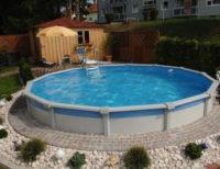 Kruhový bazén na čiastočné alebo úplné zapustenie