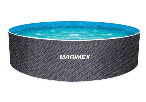 Kruhový nadzemný bazén s motívom ratanu
