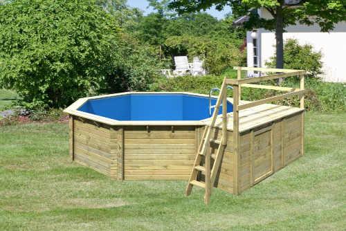 Kvalitný drevený záhradný bazén