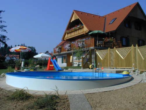 Kvalitný veľký moderný kruhový bazén