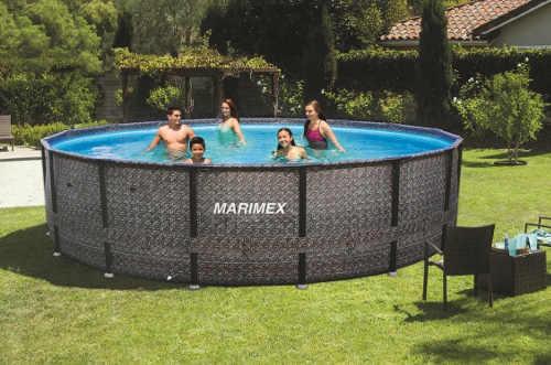 Nadzemný bazén do záhrady z ratanu