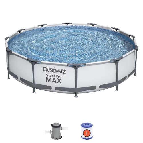 Nadzemný moderný kruhový bazén