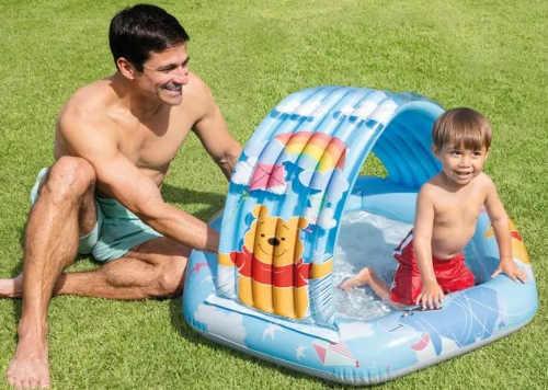 Nafukovací detský bazén so strieškou Medvedík Pú