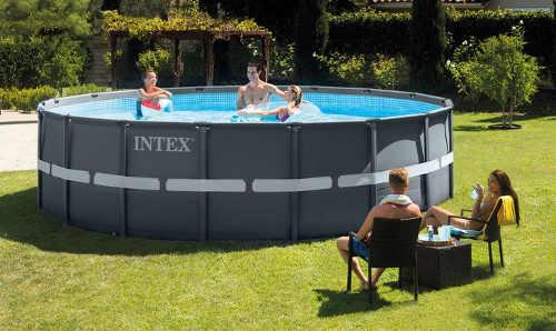 Zahradní bazén INTEX Ultra Frame XTR 5,49 x 1,32m s extra pevným kovovým rámem