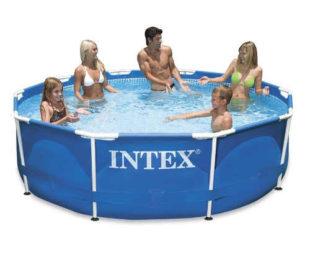 Záhradný bazén s kovovou konštrukciou