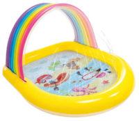 Detský nafukovací bazén s dúhovou strieškou a sprchou