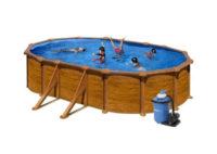 Moderný nadzemný bazén s pieskovou filtráciou