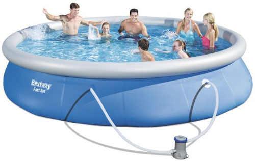 Okrúhly nafukovací bazén s filtráciou