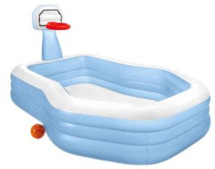 Veľký nafukovací bazén Intex s basketbalovým košom