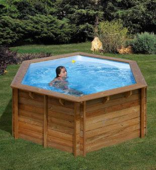 Celodrevený bazén v luxusnom dizajne