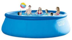 Lacný veľký záhradný bazén s nafukovacím okrajom Intex Easy Set 4,57 x 1,22 m