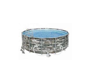 Nadzemný bazén s pevnou konštrukciou