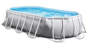 Oválny záhradný bazén s filtráciou Intex Prism Frame Oval – ideálny pre rodiny s deťmi