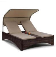 Ratanová manželská posteľ na relaxačný odpočinok